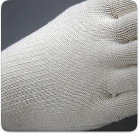 絹木綿の編み目