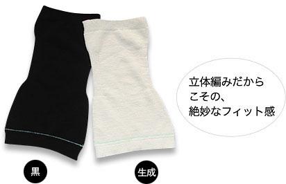身体の形に編み上げる立体編み